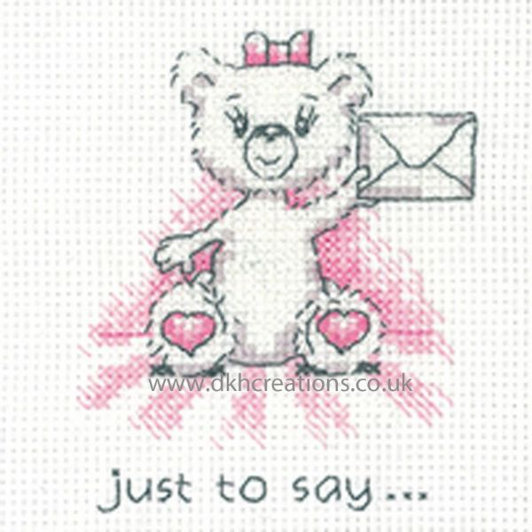 Peter Underhill Justine Just To Say Greeting Card Cross Stitch Kit